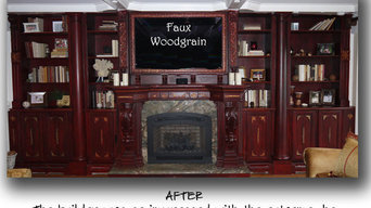 Faux Woodgrain Wall Unit