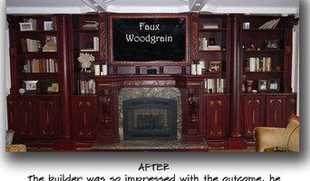 Faux Woodgrain Wall Unit