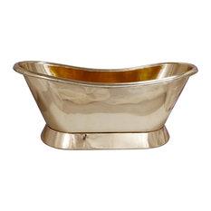 Polished Brass Bathtub