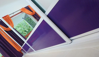 Mirror Sliding Doors with Purple air flow vents