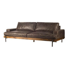 "Darick 3 Seater 95"" Leather Sofa"
