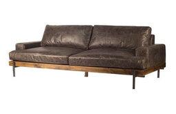"Darick 3 Seater 95"" Leather Sofa"