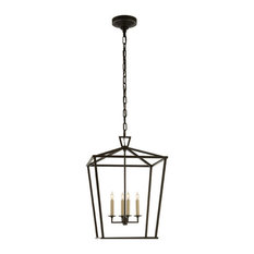 Darlana Medium Lantern, Aged Iron