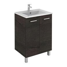 Saphir 24-inch Modern Standing Bathroom Vanity 2 Door White With Basin Essenc