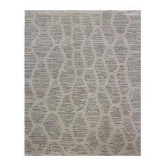 Ouirgane Cream Striped Area Rug, 170x240 cm