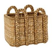 Large Palm Leaf Rectangular Rush Basket