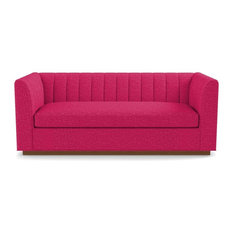 Nora Queen Size Sleeper Sofa, Memory Foam Mattress, Pink Lemonade