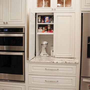Kitchen Renovation with Baking Cabinet and Snack Bar Alcove