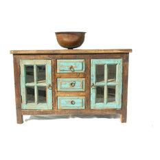 San Marcial Rustic Reclaimed Wood Bathroom Vanity 40-inchx22-inchx36-inch
