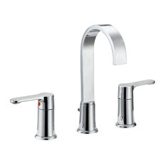 """Widespread Dual Handle Stainless Steel 14.9""""x5.7""""x10"""" Bathroom Faucet"""