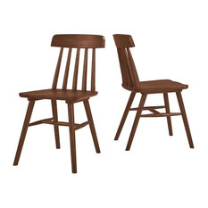 Bayfield Armless Wood Dining Chairs, Set of 2, Brown