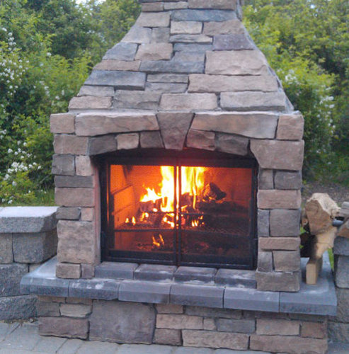 Perfect Outdoor Fireplace 3 Screen - Outdoor Fireplaces - Outdoor Fireplace Kits