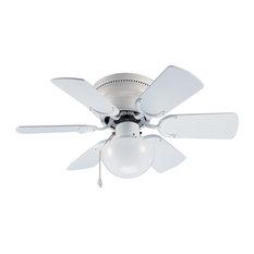 """Arcadia 30"""" Flush Mount Ceiling Fan, White"""