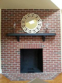 Huge Brick Multi Flue Fireplace Natural Or Paint