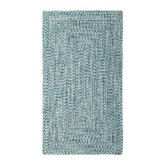 Capel Rugs - Sea Pottery Concentric Braided Rectangle Rug, Blue, 2'x3' - Area Rugs