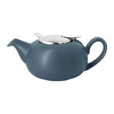 London Pottery Pebble Filter Teapot 0.5 Litres 2-Cup, Slate Blue