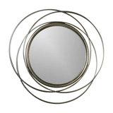 Large Round Vintage Gold Swirl Mirror 68cm x 68cm