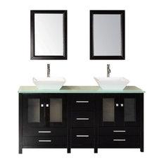 """Arlington 61"""" Double Sink Vanity Set, Espresso"""