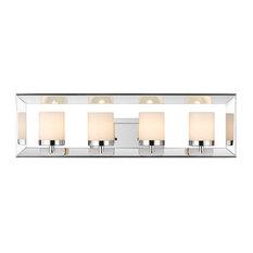 Smyth 4-Light Bathroom Vanity Fixture, Chrome