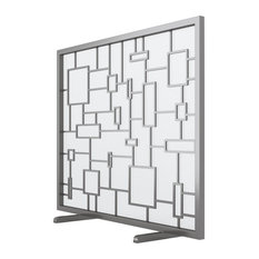 Squares Firescreen, With Mesh