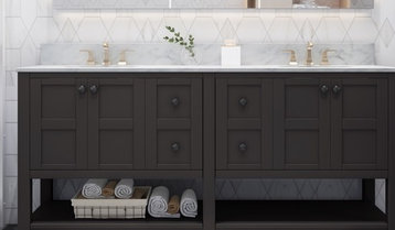 Up to 50% Off Double-Sink Vanities With Free Shipping