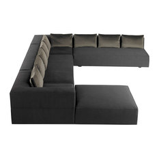 cosmo modern u shaped sectional sectional sofas