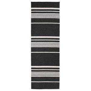 Trail Woven Vinyl Floor Cloth, Black, 150x210 cm