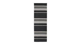 Trail Woven Vinyl Floor Cloth, Black