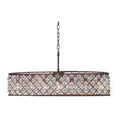 Cassiel 30 Inch Oval Crystal Chandelier, Oil Rubbed Bronze