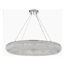 "Crystal Ring Modern/Contemporary Orb Chandelier 32"" Wide"