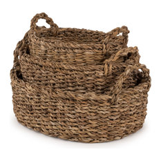Seagrass Nested Oval Bread Baskets, Set of 3