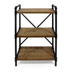 Bethany Industrial Three Shelf Bookcase