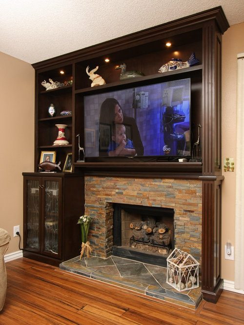 Custom Fireplace Cabinets Home Design Ideas Pictures