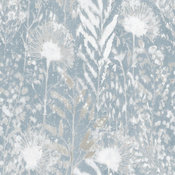 Dandelion Peel & Stick Wallpaper, white