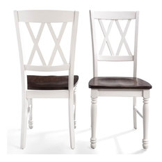 Shelby Dining Chair White Finish Set Of 2
