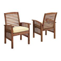 Walker Edison Arcadia Patio Chairs, Set of 2