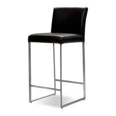 Breathable Leather Bar Stool Black