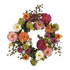 """24"""" Mixed Peony Wreath"""