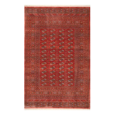 Traditional Transitional Vintage Area Rug, Red, 9'x 12'