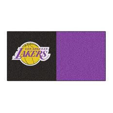 "18""x18"" NBA Los Angeles Lakers Carpet Tiles, Set of 20"