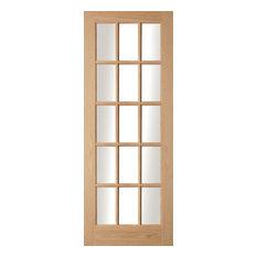 Oregon 15-Panel Glazed Light Wood Interior Door, 72.6x204 cm