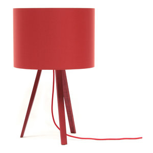 Short Luca Stand Uni Table Lamp, Red