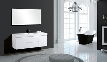 "Bliss 60"" White Wall Mount Single Sink Modern Bathroom Vanity"