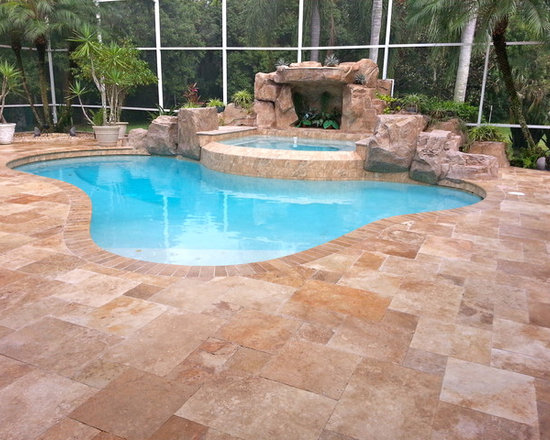 travertine pavers for pool decks - affordable tumbled premium