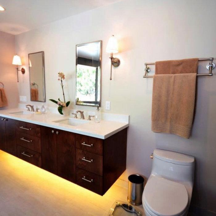 Garage transformed bathroom in N hollywood
