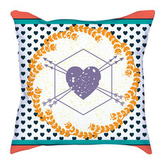 """Love And Romance Throw Pillow Cover, 18"""""""