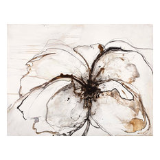 """Pavot""   - Large Contemporary Floral Artwork"