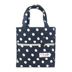 Portable Blue Square Korea Velvet Lunch Bags