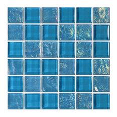 "12""x12"" Glass Tile Blends Twilight Series, Azure"