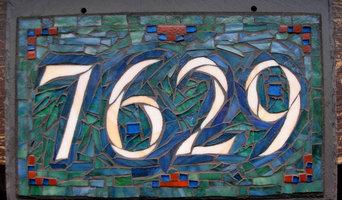 Mosaic House Numbers on Slate